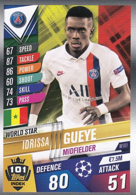 #W101 Idrissa Gueye (Paris Saint-Germain) Match Attax 101 2019/20