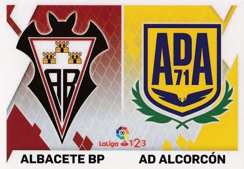 #1 Albacete BP/ AD Alcorcon Coleccion Liga Este 2019-20 ESCUDOS 1 2 3