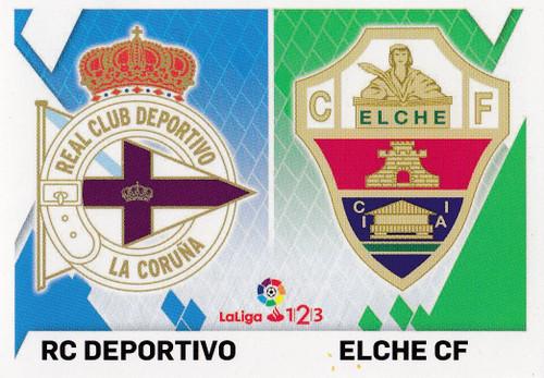 #3 RC Deportivo/ Elche CF Coleccion Liga Este 2019-20 ESCUDOS 1 2 3