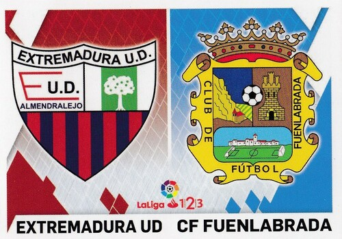 #4 Extremadura UD/ CF Fuenlabrada Coleccion Liga Este 2019-20 ESCUDOS 1 2 3
