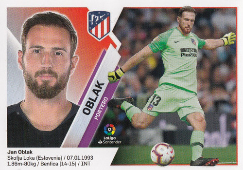 #1 Oblak (Atletico De Madrid) Coleccion Liga Este 2019-20