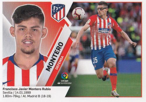 #4 Montero (Atletico De Madrid) Coleccion Liga Este 2019-20