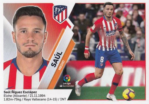 #10 Saul (Atletico De Madrid) Coleccion Liga Este 2019-20