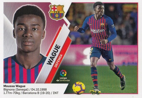#3B Wague (FC Barcelona) Coleccion Liga Este 2019-20