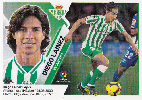 #14B Diego Lainez (Real Betis) Coleccion Liga Este 2019-20