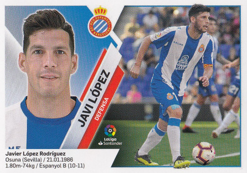 #3 Javi Lopez (RCD Espanyol) Coleccion Liga Este 2019-20