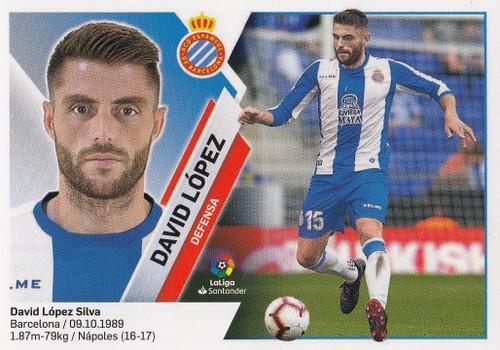 #4 David Lopez (RCD Espanyol) Coleccion Liga Este 2019-20
