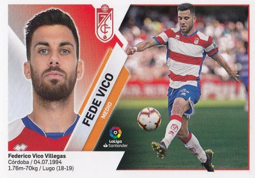 #12 Fede Vico (Granada CF) Coleccion Liga Este 2019-20