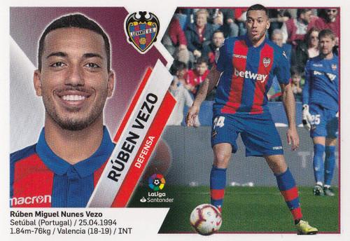 #4A Ruben Vezo (Levante UD) Coleccion Liga Este 2019-20