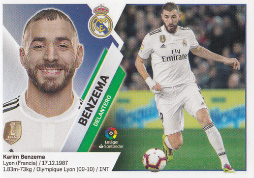 #15 Benzema (Real Madrid) Coleccion Liga Este 2019-20