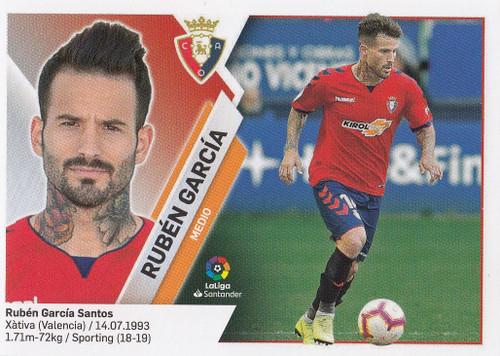 #12A Ruben Garcia (CA Osasuna) Coleccion Liga Este 2019-20