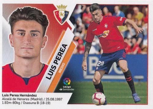 #12B Luis Perea (CA Osasuna) Coleccion Liga Este 2019-20