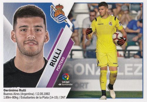 #1 Rulli (Real Sociedad) Coleccion Liga Este 2019-20