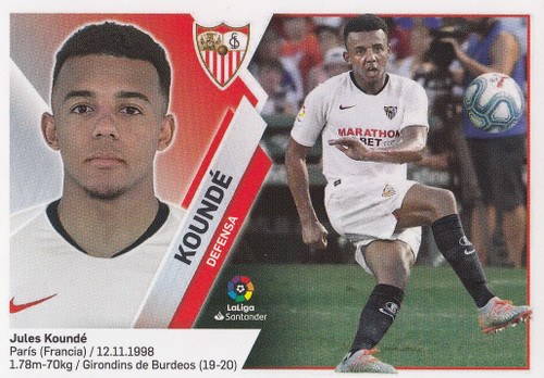 #6 Kounde (Sevilla FC) Coleccion Liga Este 2019-20