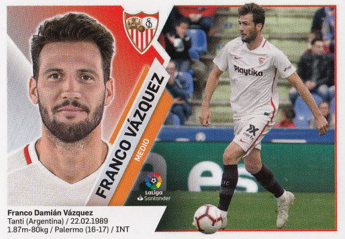 #11 Franco Vazquez (Sevilla FC) Coleccion Liga Este 2019-20