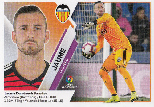 #2 Jaume (Valencia CF) Coleccion Liga Este 2019-20
