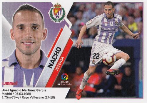 #7 Nacho (Real Valladolid CF) Coleccion Liga Este 2019-20