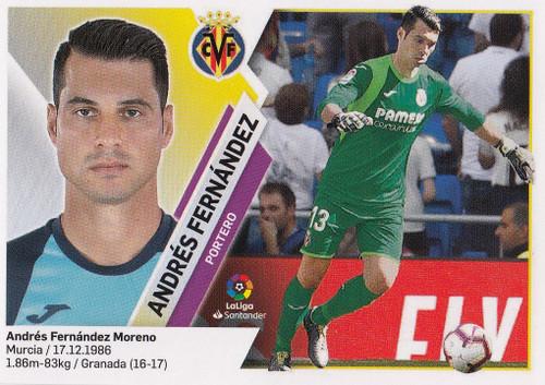 #2 Andres Fernandez (Villarreal CF) Coleccion Liga Este 2019-20