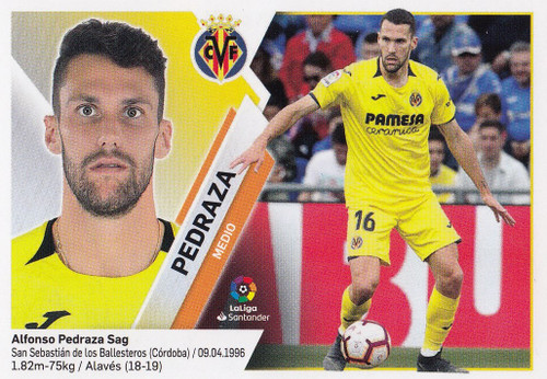 #9A Pedraza (Villarreal CF) Coleccion Liga Este 2019-20