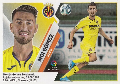 #11B Moi Gomez (Villarreal CF) Coleccion Liga Este 2019-20