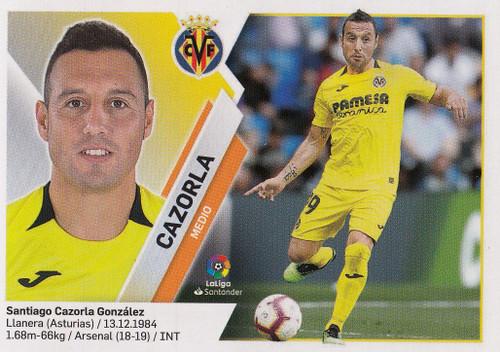 #12 Cazorla (Villarreal CF) Coleccion Liga Este 2019-20