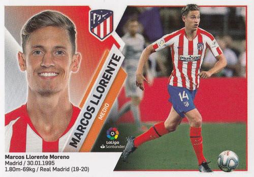 #9 Marcos Llorente (Atletico de Madrid) Coleccion Liga Este 2019-20 ULTIMOS FICHAJES