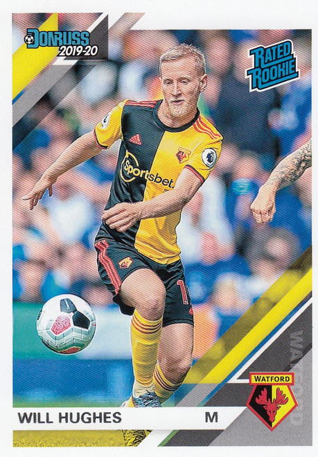 WATFORD Will Hughes Panini Chronicles 2019-20 DONRUSS RATED ROOKIE