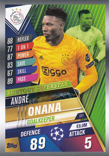 #SH1 Andre Onana (AFC Ajax) Match Attax 101 2019/20 SHUTOUT SUPERSTAR