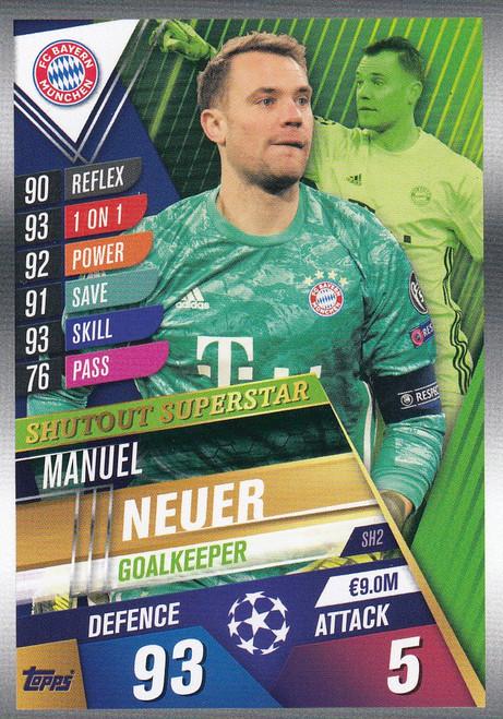 #SH2 Manuel Neuer (FC Bayern Munchen) Match Attax 101 2019/20 SHUTOUT SUPERSTAR