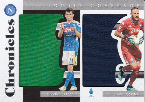 SSC NAPOLI Lozano/ Ospina Panini Chronicles 2019-20 Double Coverage Dual Relic
