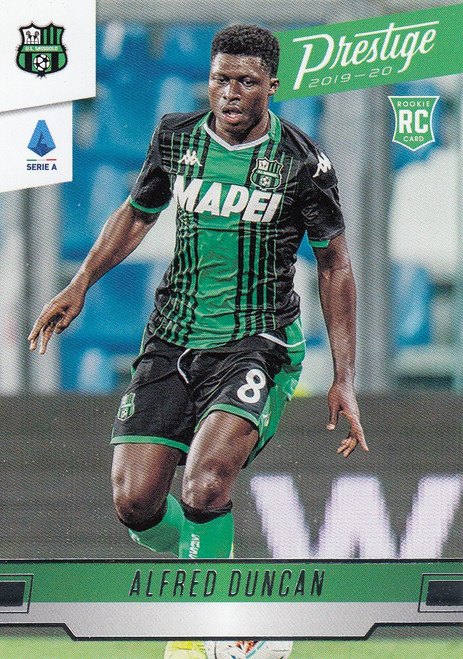 US SASSUOLO Alfred Duncan Panini Chronicles 2019-20 Prestige ROOKIE CARD