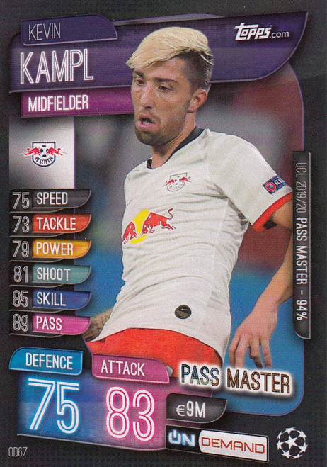 #OD67 Kevin Kampl (RB Leipzig) Match Attax Champions League 2019-20 ON DEMAND