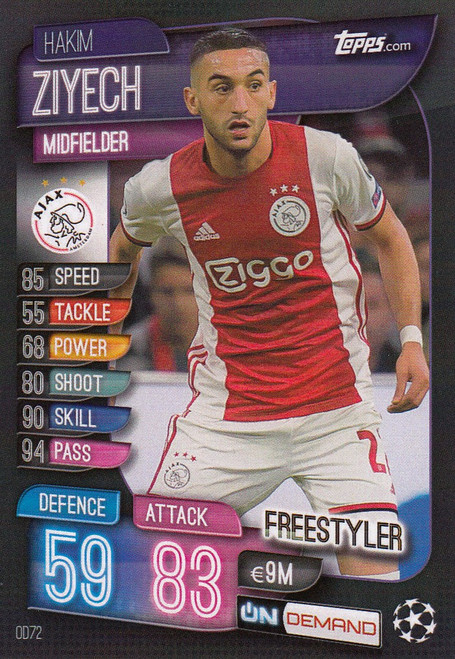 #OD72 Hakim Ziyech (AFC Ajax) Match Attax Champions League 2019-20 ON DEMAND