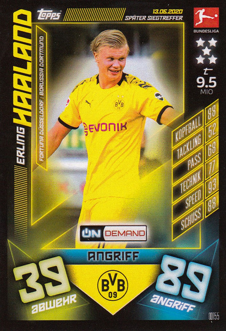 #OD155 Erling Haaland (Borussia Dortmund) Match Attax Bundesliga 2019-20 ON DEMAND