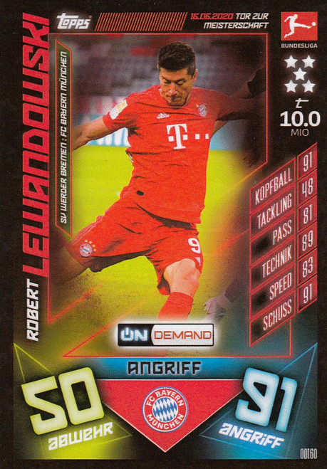 #OD160 Robert Lewandowski (FC Bayern Munchen) Match Attax Bundesliga 2019-20 ON DEMAND