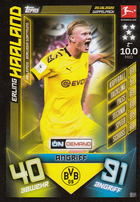 #OD164 Erling Haaland (Borussia Dortmund) Match Attax Bundesliga 2019-20 ON DEMAND