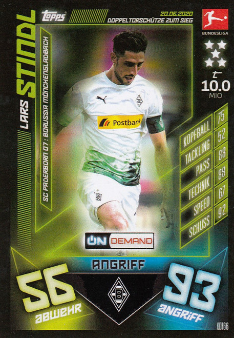 #OD166 Lars Stindl (Borussia Monchengladbach) Match Attax Bundesliga 2019-20 ON DEMAND