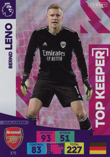 #375 Bernd Leno (Arsenal) Adrenalyn XL Premier League 2020/21 TOP KEEPER