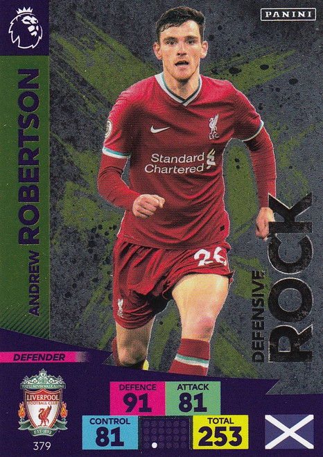 #379 Andrew Robertson (Liverpool) Adrenalyn XL Premier League 2020/21 DEFENSIVE ROCK