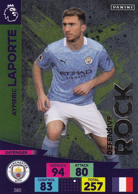 #380 Aymeric Laporte (Manchester City) Adrenalyn XL Premier League 2020/21 DEFENSIVE ROCK