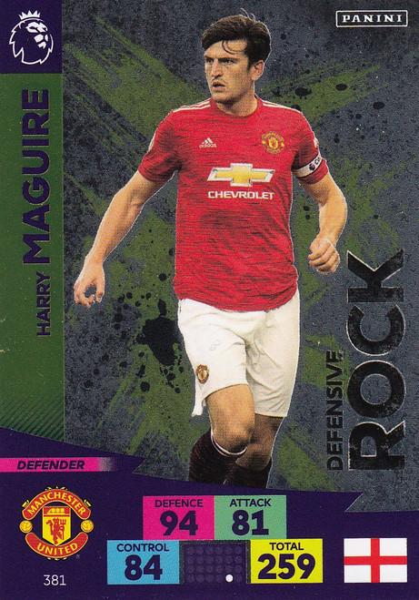 #381 Harry Maguire (Manchester United) Adrenalyn XL Premier League 2020/21 DEFENSIVE ROCK