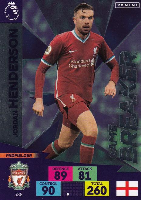 #388 Jordan Henderson (Liverpool) Adrenalyn XL Premier League 2020/21 GAME BREAKER