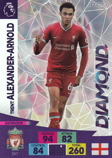 #397 Trent Alexander-Arnold (Liverpool) Adrenalyn XL Premier League 2020/21 DIAMOND