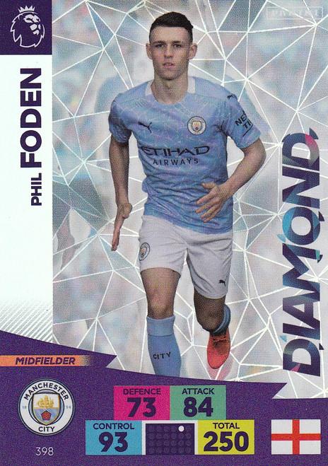 #398 Phil Foden (Manchester City) Adrenalyn XL Premier League 2020/21 DIAMOND