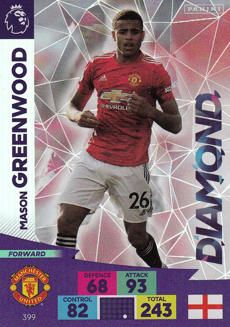 #399 Mason Greenwood (Manchester United) Adrenalyn XL Premier League 2020/21 DIAMOND