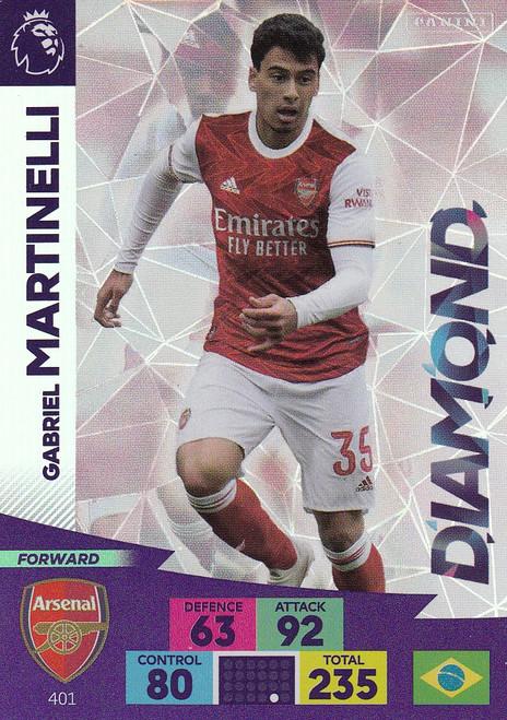 #401 Gabriel Martinelli (Arsenal) Adrenalyn XL Premier League 2020/21 DIAMOND