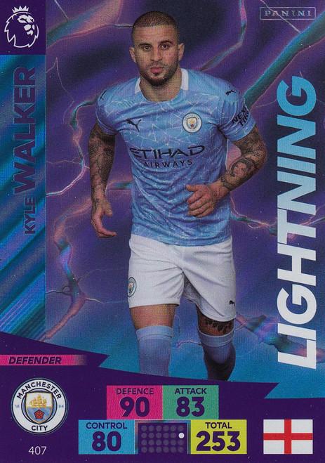 #407 Kyle Walker (Manchester City) Adrenalyn XL Premier League 2020/21 LIGHTNING