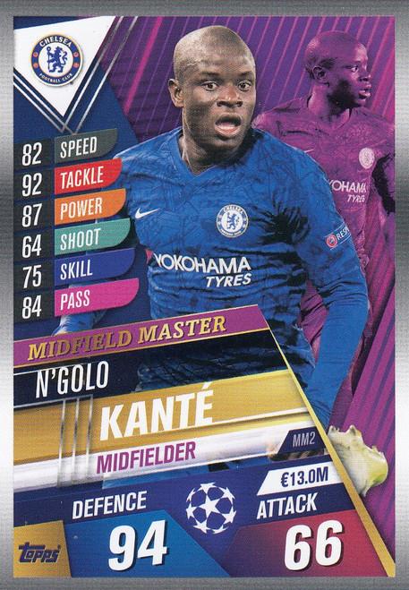 #MM1 N'Golo Kante (Chelsea FC) Match Attax 101 2019/20 MIDFIELD MASTER