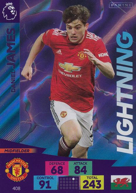 #408 Daniel James (Manchester United) Adrenalyn XL Premier League 2020/21 LIGHTNING