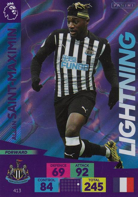 #413 Allan Saint-Maximin (Newcastle United) Adrenalyn XL Premier League 2020/21 LIGHTNING